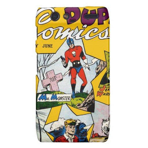 Vintage Super Hero Comic Droid RAZR Case