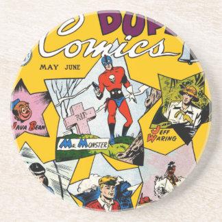 Vintage Super Hero Comic Drink Coasters
