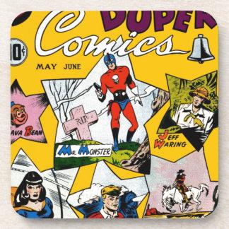 Vintage Super Hero Comic Drink Coaster