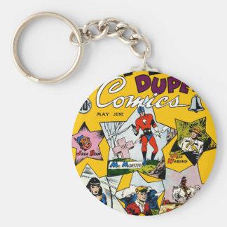 Vintage Super Hero Comic Key Chain