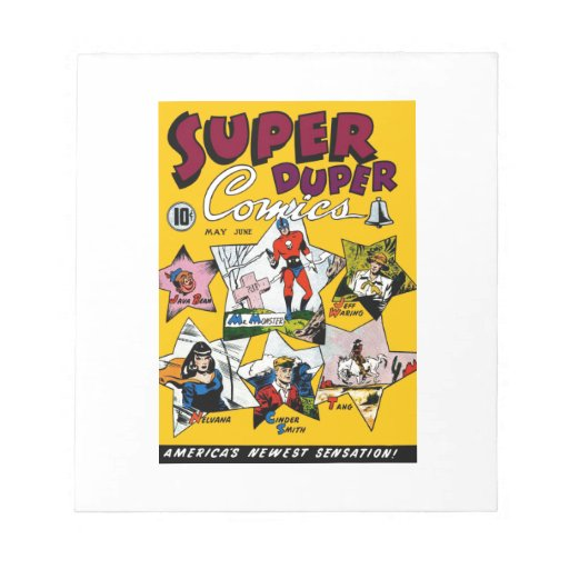 Vintage Super Hero Comic Memo Notepads