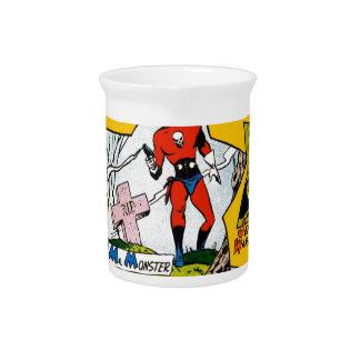 Vintage Super Hero Comic Beverage Pitcher