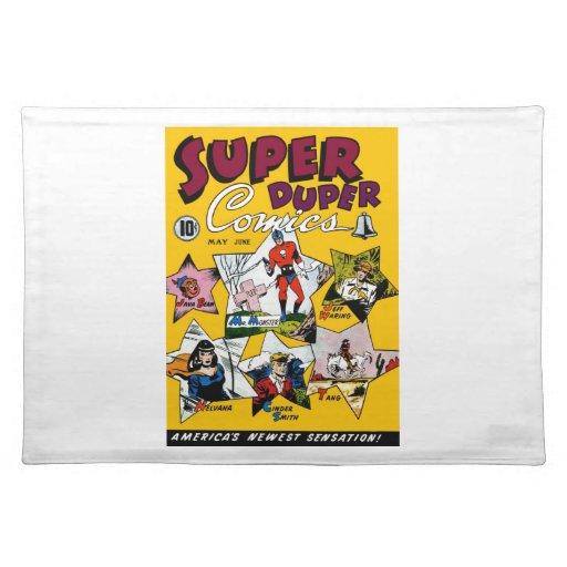 Vintage Super Hero Comic Place Mat