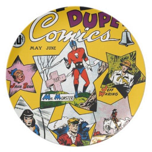 Vintage Super Hero Comic Plates