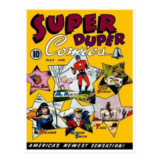 Vintage Super Hero Comic Post Card