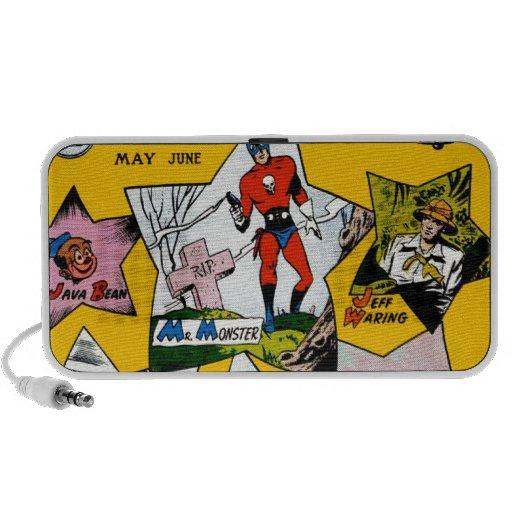 Vintage Super Hero Comic Mp3 Speakers