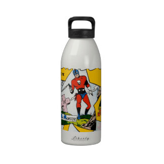 Vintage Super Hero Comic Water Bottle