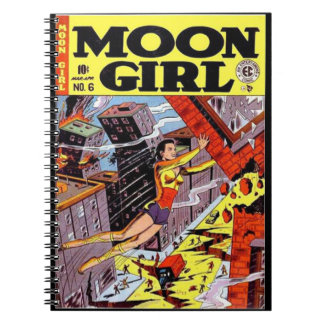 Vintage Super Heroines Comic Book Cover Note Books
