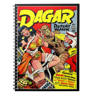 Vintage Super Heroines Comic Book Cover Spiral Note Books