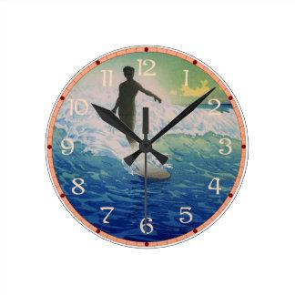 Vintage Surfer Clocks