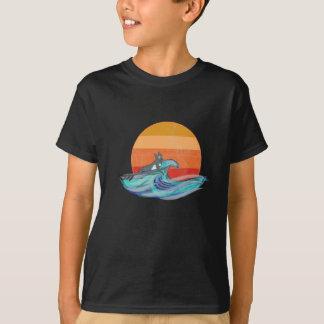 Vintage Surfing Dog shirt for boys kids
