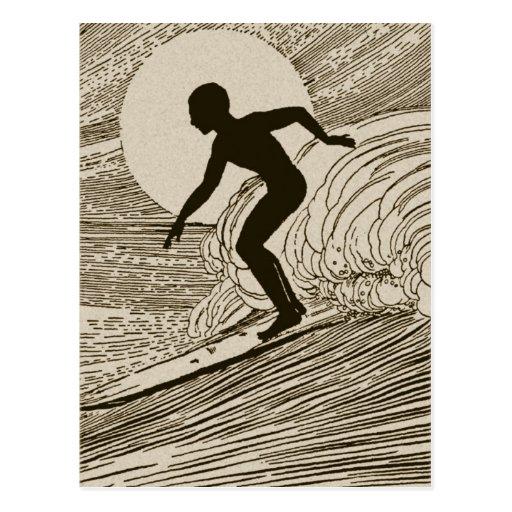 Vintage Surfing Post Cards