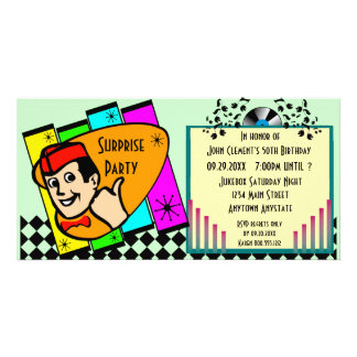 Vintage Surprise Birthday Party Invitation Customized Photo Card