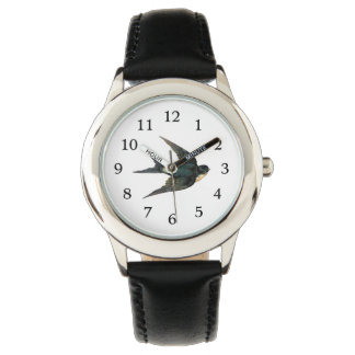 Vintage Swallow Bird Illustration Watch