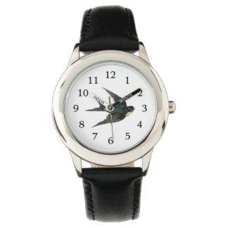 Vintage Swallow Bird Illustration Wrist Watch