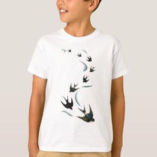 Vintage Swallow Birds Art T-Shirt