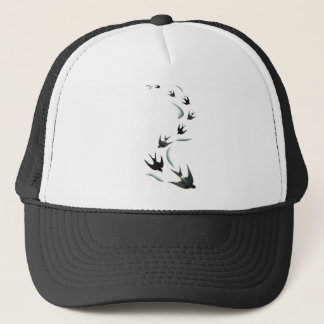 Vintage Swallow Birds Art Trucker Hat