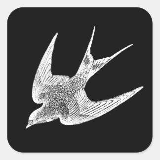 Vintage Swallow Illustration -1800 s Antique Bird Stickers
