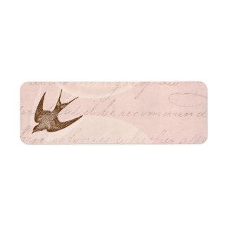 Vintage Swallow Illustration -1800's Antique Bird