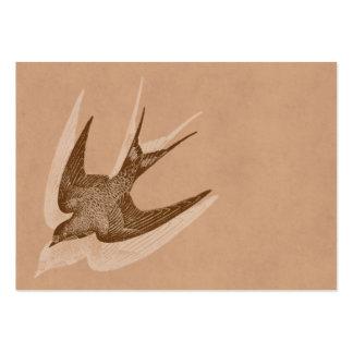 Vintage Swallow Illustration -1800's Antique Bird Business Cards