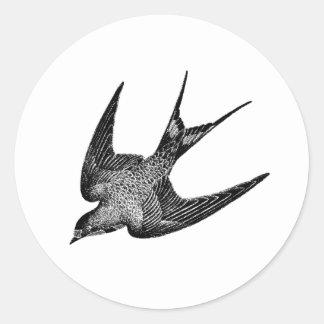 Vintage Swallow Illustration -1800's Antique Bird Sticker