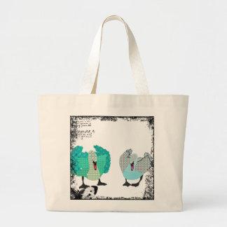 Vintage Swanky Swans Art Bag