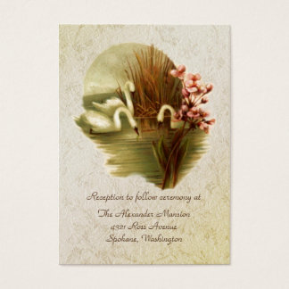 Vintage Swans Wedding enclosure cards