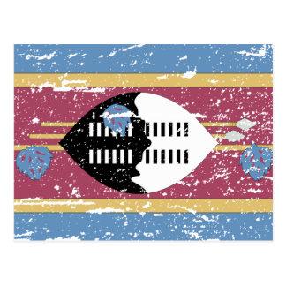 Vintage Swaziland Flag Postcard