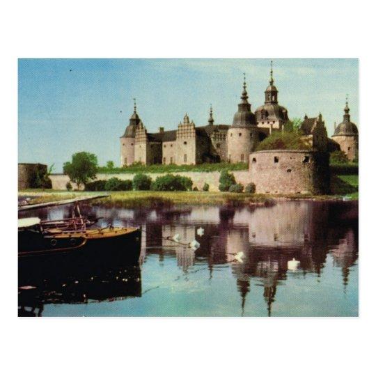 Vintage Sweden, Kalmar mediaeval castle, Postcard