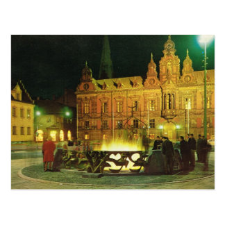 Vintage Sweden, Malmo, City Hall Postcard