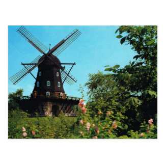 Vintage Sweden, Malmo, Windmill Postcard
