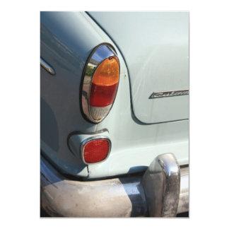 Vintage Swedish Car detail 11 Cm X 16 Cm Invitation Card