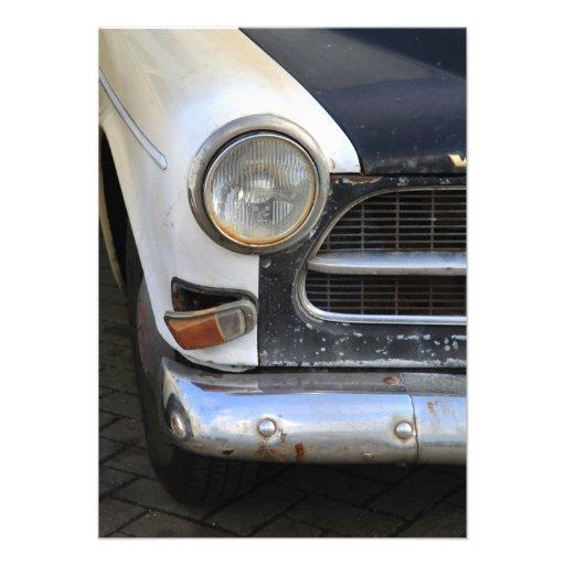 Vintage Swedish Car detail Personalized Invite