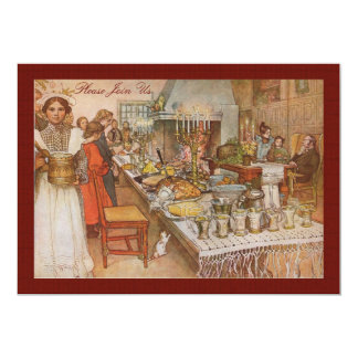 Vintage Swedish Holiday Brunch by Carl Larsson 13 Cm X 18 Cm Invitation Card