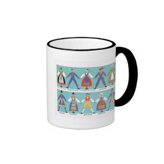 Vintage Swedish regional costumes Coffee Mug