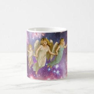 Vintage Sweet Angels Flying Basic White Mug