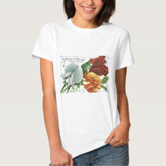 Vintage Sweet Peas Seed Packet Tshirt