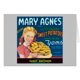 Vintage Sweet Potatoes Food Product Label Cards