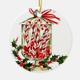 Vintage Sweet Treats - Jar of Candy Canes Christmas Ornament