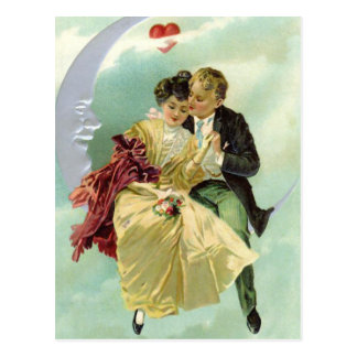 Vintage Sweethearts Valentine Postcard