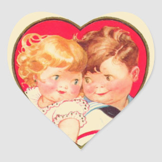 Vintage Sweethearts Valentine Stickers