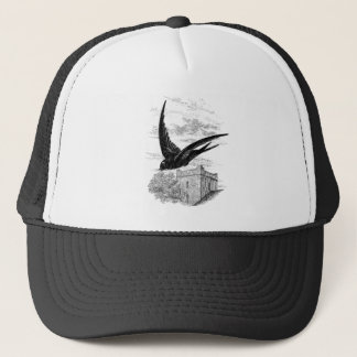 Vintage Swift Swallow Bird Illustration Template Trucker Hat