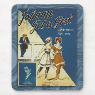 Vintage Swimsuit Song Sheet Cover Mousepad