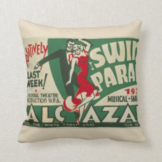 "Vintage ""Swing Parade"" Cushion"