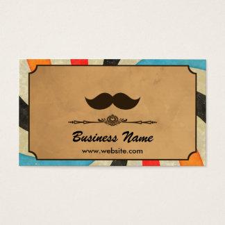 Vintage Swirl Barbershop Business Card