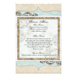 Vintage Swirl Flourish Etchings Floral Wedding Customised Stationery