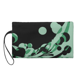 Vintage Swirl Retro Funky Painting Abstract Art Wristlet Purse