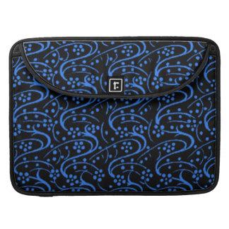 Vintage Swirls Blue Black Macbook Pro Flap Sleeve Sleeve For MacBook Pro