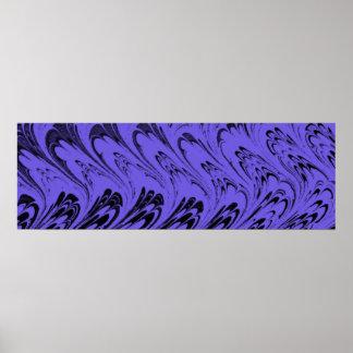 Vintage Swirls Blueberry Purple Waves Posters
