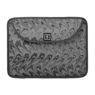 Vintage Swirls Charcoal Macbook Pro Flap Sleeve Sleeves For MacBook Pro